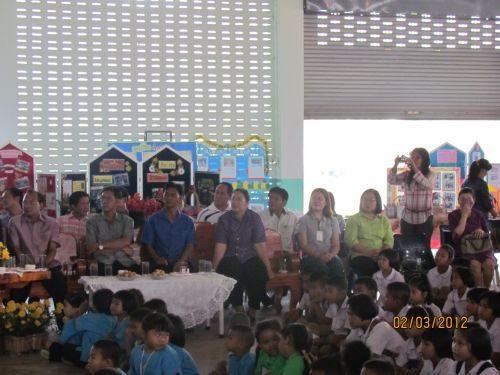 """กิจกรรม """"แสดงผลงานทางวิชาการและตลาดนัดอาชีพ"""" โรงเรียนบ้านบัวชุม วันที่ 2 มีนาคม 2555"""