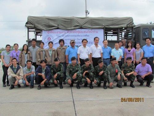 บริจาคของช่วยเหลือผู้ประสบภัยน้ำท่วมร่วมกับสภาอุตสาหกรรม จ.ลพบุรี