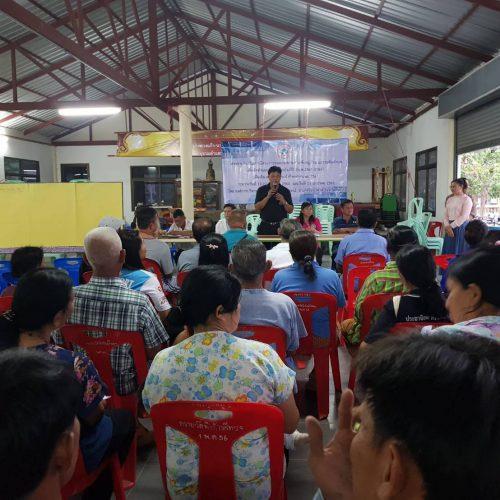 ร่วมการประชาคม โครงการส่งเสริมการมีส่วนร่วมของประชาชน ระดับหมู่บ้านและระดับตำบล เพื่อจัดทำแผนพัฒนาท้องถิ่นสี่ปีร่วมกับหน่วยงานองค์การบริหารส่วนตำบลนิคมลำนารายณ์