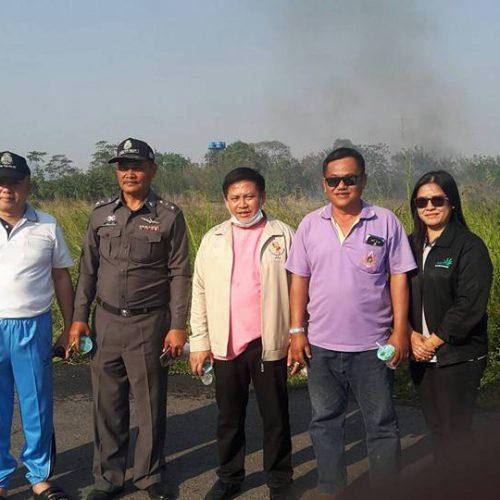 ร่วมนำรถน้ำช่วยระงับเหตุเพลิงไหม้กับองค์การบริหารส่วนตำบลนิคมลำนารายณ์